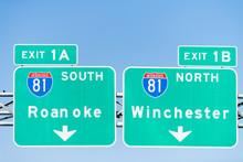 Green Road Signs In Virginia F...
