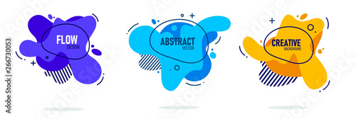 Modern abstract vector banner set Wallpaper Mural