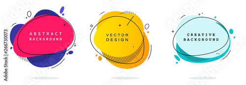 Fotografia  Set of modern abstract vector banners
