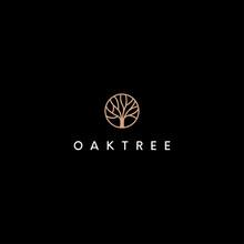 Oak Tree Vector Logo Design