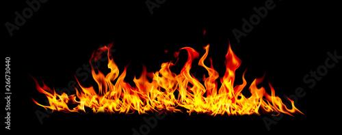 Photo sur Toile Feu, Flamme Fire flames.