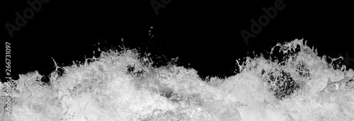 Obraz Water Splash on Black Background - fototapety do salonu