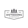 outdoor tree vector logo design