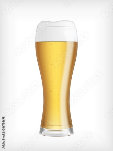 Photo Lager beer glass