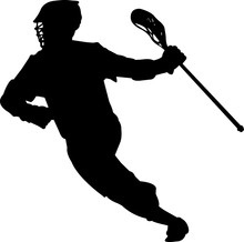 Lacrosse - Men 2 Isolated Vect...