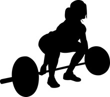 Weightlifting Women 3 Isolated...
