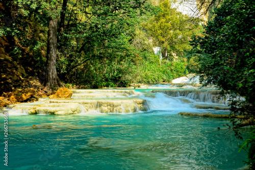 Cadres-photo bureau Rivière de la forêt Mexico waterfall El Chiflon