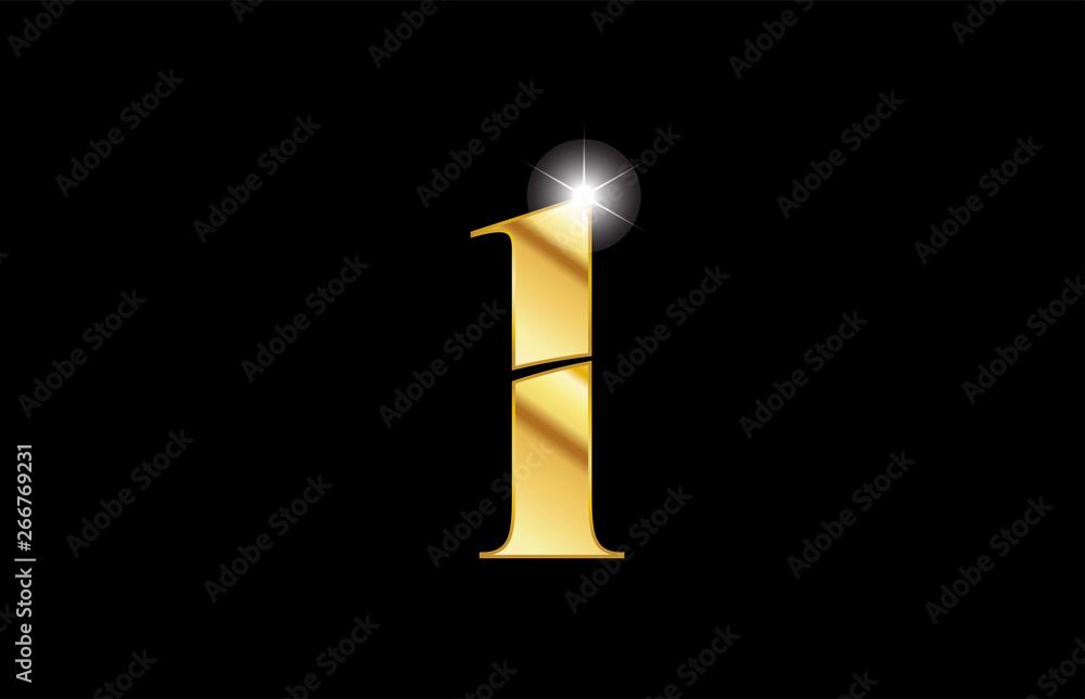 Fototapeta number 1 one gold golden metal metallic logo icon design