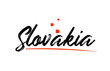 Slovakia country typography word text for logo icon design