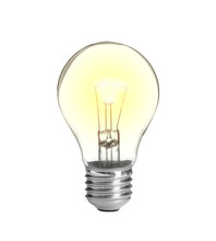 New Incandescent Light Bulb For Modern Lamps On White Background