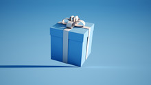 Blue And White Gift Box
