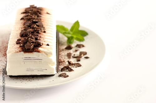 Canvas Print Torta gelato al cioccolato