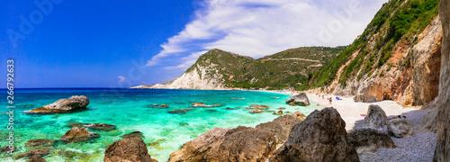 Best beaches of Greece - Myrtos in Kefalonia . Ionian islands
