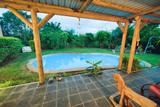 Beautiful pool in tropical environment - 266817028