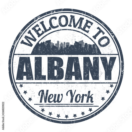 Welcome to Albany sign or stamp Fototapet