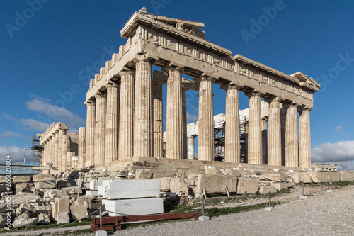Photo Ancient Building of The Parthenon in the Acropolis of Athens, Attica, Greece