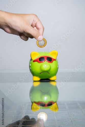 Photo Cofre e moedas