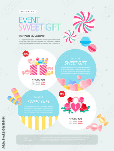 spring, event page, Landing page, coupon design