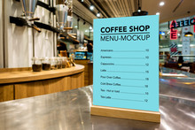 Mock Up Coffee Menu List With ...