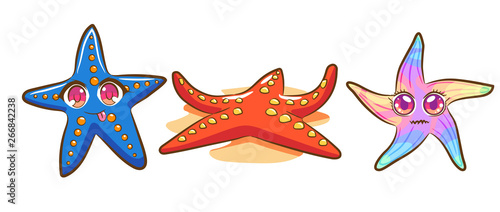 Fotomural starfish vector cartoon clipart design