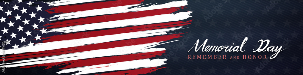 Fototapeta memorial day remember and honor background,united states flag, with respect honor and gratitude posters, modern design vector illustration