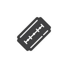 Blade Razor Vector Icon. Fille...