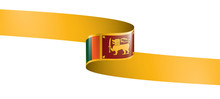 Sri Lanka Flag, Vector Illustr...