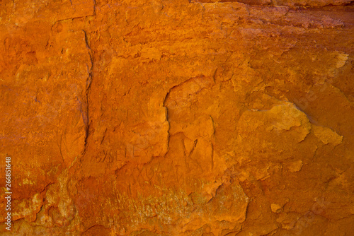 Wall Murals Old dirty textured wall ochre rocks in roussillon, provence, france