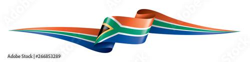 Fotografia, Obraz south africa flag, vector illustration on a white background