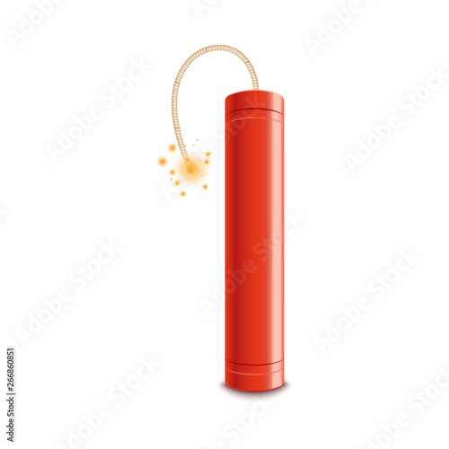Papel de parede  Red dynamite stick with lit fuse ready to explode