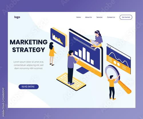 Photo  Isometric Artwork Concept of Marketing Strategy
