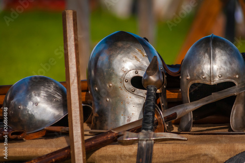Photo Medieval armors and weapons