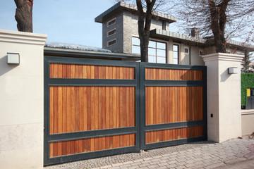 automatic wooden entry door