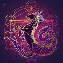 Zodiac Sign Capricorn. Fantast...