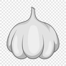 Garlic Bulb Icon. Cartoon Illu...