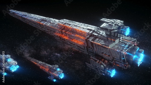 Foto huge space battleships