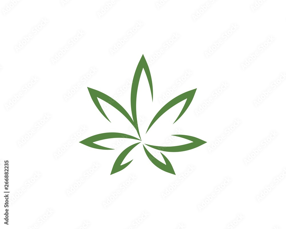 Fototapety, obrazy: Canabis leaf vector illustration