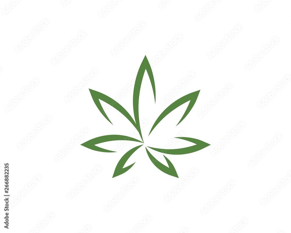 Fototapeta Canabis leaf vector illustration
