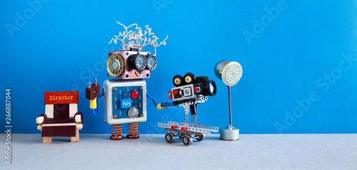 Fotografia, Obraz Robot cameraman shoots motion picture television episode or movie