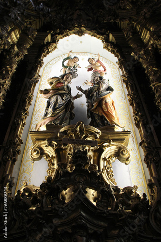 Photo altarpiece - Carmelitas e Carmo church - Porto - Portugal