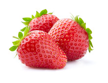 Fresh Strawberry With Leaves