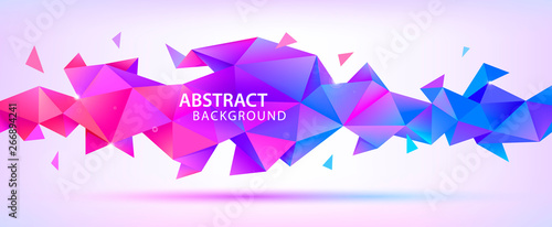 Valokuva  Vector abstract geometric 3d facet shape