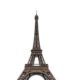Fototapeta Fototapety z wieżą Eiffla - Eiffel tower isolated over the white background.