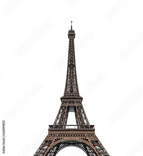 Poster Tour Eiffel Eiffel tower isolated over the white background.