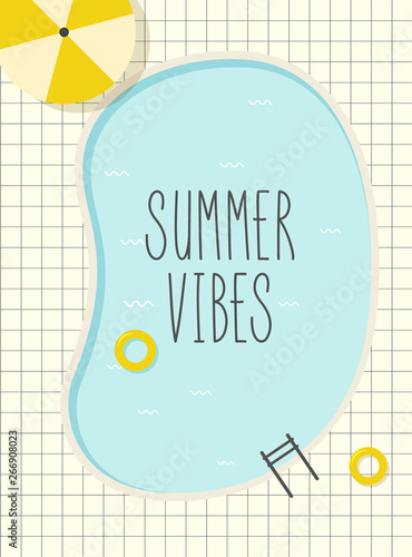 Poster Retro sign retro pool summer poster