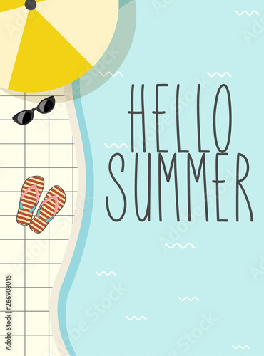 Retro sign cute vintage summer poster