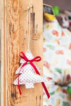 Petit Sapin En Tissu Fait Main, Décoration De Noel