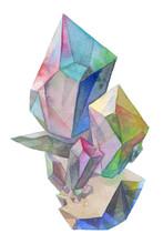 Rainbow Crystal Cluster Gemsto...
