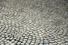 Circular Cobblestone Pavement