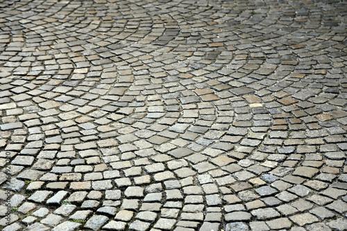 Obraz Circular cobblestone pavement - fototapety do salonu